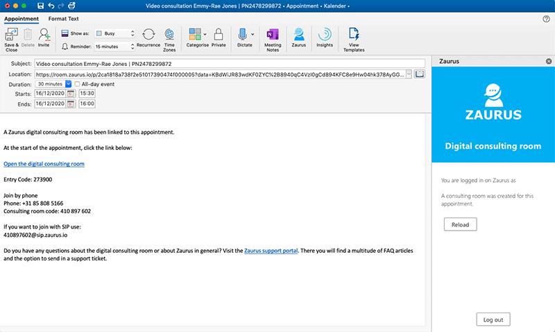 Outlook add-in Zaurus